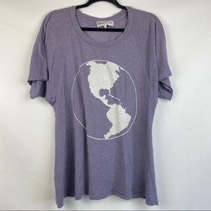 Wildfox Oversized Graphic Earth Shirt